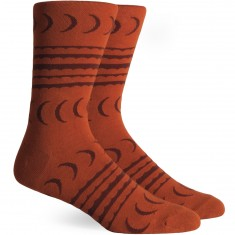 Richer Poorer Crescent Socks - Orange
