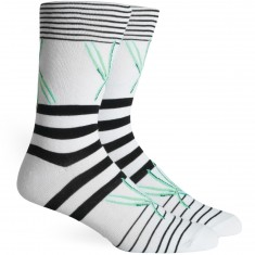 Richer Poorer Getaway Socks - White