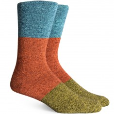 Richer Poorer Riker Socks - Blue/Brown