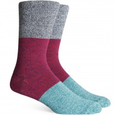 Richer Poorer Riker Socks - Black/Blue