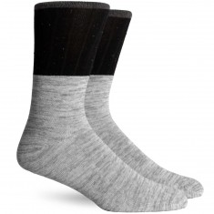 Richer Poorer Eugene Socks - Grey/Black