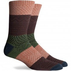 Richer Poorer Gilgamesh Socks - Orange/Teal