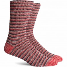 Richer Poorer Lobos Socks - Red/Navy