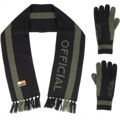 Official Scarf/Glove Set Accessories - Black