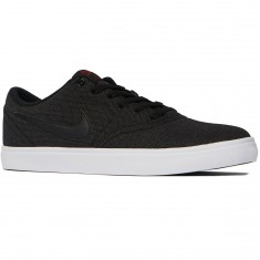 Nike SB Check Solarsoft Shoes - Black/Black/Red