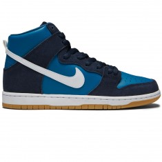 Nike Dunk High Pro SB Shoes - Obsidian/White/Industrial Blue