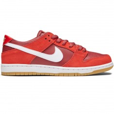 Nike SB Dunk Low Pro Shoes - Track Red/White Cedar/Brown Gum