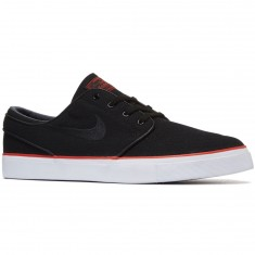 Nike Zoom Stefan Janoski Canvas Shoes - Black/Black/Max Orange