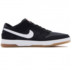 Nike SB Zoom Dunk Low Elite Shoes - Black/White Gum/Light Brown