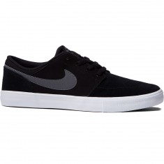Nike SB Solarsoft Portmore II Shoes - Black/Dark Grey/White