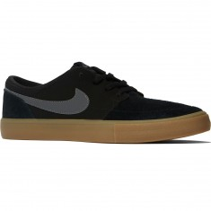 Nike SB Solarsoft Portmore II Shoes - Black/Dark Grey Gum/Light Brown