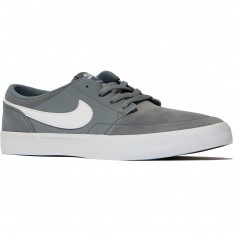 Nike SB Solarsoft Portmore II Shoes - Cool Grey/White/Black