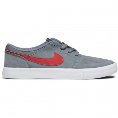 Nike SB Solarsoft Portmore II Shoes - Cool Grey/Cedar White/Black