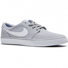 Nike SB Solarsoft Portmore II Canvas Shoes - Wolf Grey/White/Black