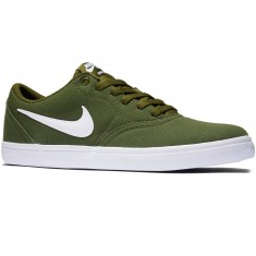 Nike SB Check Solarsoft Shoes - Legion Green/White