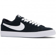 Nike SB Air Zoom Blazer Low Shoes - Black/White/Gum Light Brown