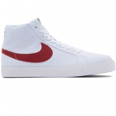 Nike SB Zoom Blazer Mid Shoes - White/Cedar