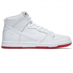 Nike SB Kevin Bradley Zoom Dunk High Pro QS Shoes - White/White/Red
