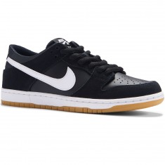 Nike SB Dunk Low Pro Shoes - Black/White/Gum Light Brown