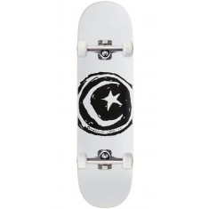 """Foundation Star And Moon Skateboard Complete - White - 8.25"""""""