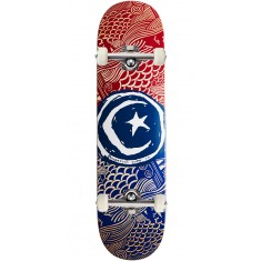 Foundation Star and Moon Waves Skateboard Complete - 8.25""