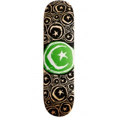 "Foundation Star and Moon Stickered Skateboard Deck - 8.375"" - Green"