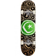 """Foundation Star and Moon Stickered Skateboard Complete - 8.375"""" - Green"""