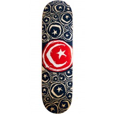 """Foundation Star and Moon Stickered Skateboard Deck - 8.75"""" - Red"""