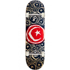 "Foundation Star and Moon Stickered Skateboard Complete - 8.75"" - Red"