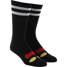 7714f2c96db95 Toy Machine Monster Face Socks - Black
