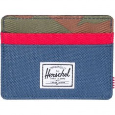Herschel Charlie Wallet - Navy/Red/Woodland Camo