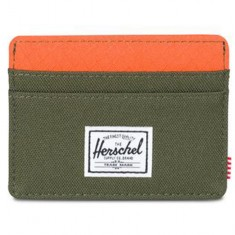 Herschel Charlie Wallet - Forest Night/Vermillion Orange