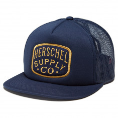 c7fcf0fe3a7 Herschel Supply Whaler Patch Hat - Peacoat