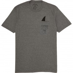 Captain Fin Shark Fin Pocket T-Shirt - Navy/Grey