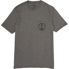 Captain Fin Helm Pocket T-Shirt - Heather Grey/Black