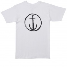 Captain Fin Original Anchor T-Shirt - White/Black