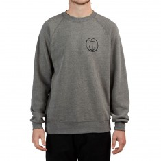 Captain Fin Helm Crew Sweatshirt - Gunmetal Heather
