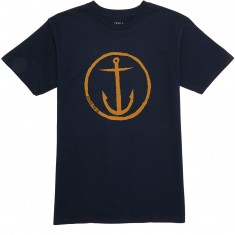 Captain Fin Original Anchor T-Shirt - Navy/Gold