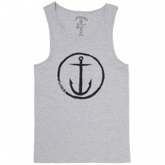 Captain Fin Original Anchor Tank Top - Heather Grey