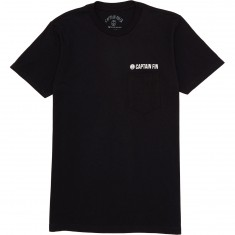 Captain Fin Team Pocket T-Shirt - Black