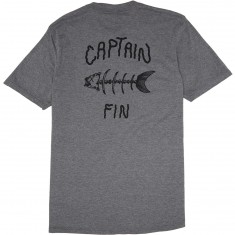 Captain Fin Fish Bones T-Shirt - Heather Grey