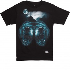 Grizzly Roar At The Moon T-Shirt - Black