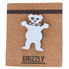 Grizzly Fiend Club Pin - White