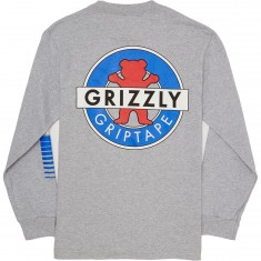 Grizzly OG Bear Motion Long Sleeve T-Shirt - Heather Grey