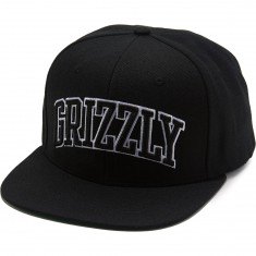 Grizzly Top Team Snapback Hat - Black