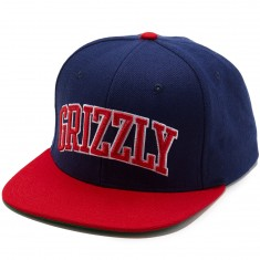 Grizzly Top Team Snapback Hat - Navy