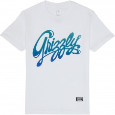 Grizzly Wet Script T-Shirt - White