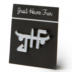 Just Have Fun Logo Pin - Silver