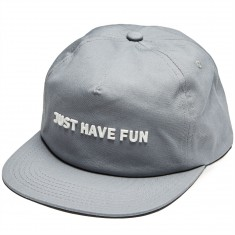 Just Have Fun All Is One Strapback Hat - Grey