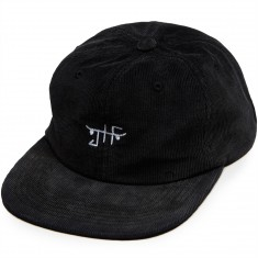 Just Have Fun Burnout Velcro Strapback Hat - Black
